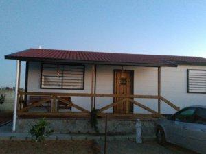Aplicación sobre panel teja porche