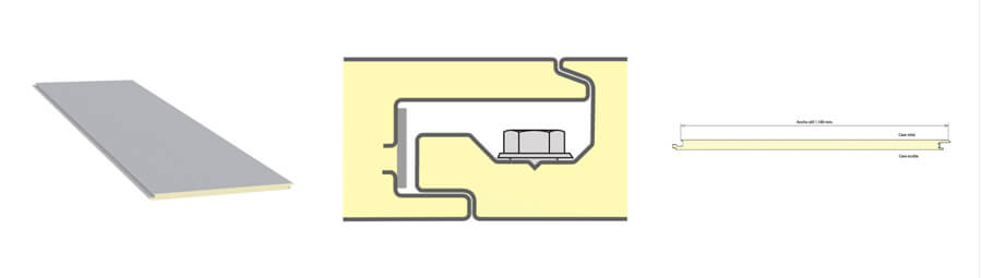panel tornilleria oculta paneles sandwich